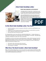 Short Sale Hardship Letter Guidelines & Samples