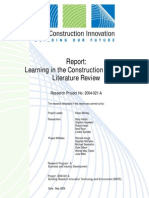 CRC, 2006 - Learning in the Construction Industry Literature Review