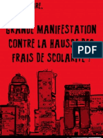 Affiche 2 Manifestation nationale 10 novembre