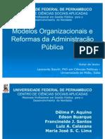GESTÃO PÚBLICA I- MODELOS ORGANIZACIONAIS - 17.04.10