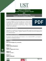 Magister en Educación Mención Gestión Directiva Escolar 2011