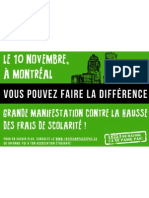 Affiche 1 Manifestation nationale 10 novembre