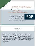 Farm Bill Forum - USDA Foods
