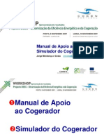 Apresenta%C3%A7%C3%A3o Result a Dos Do Manual e Do Simulador Do Cogerador