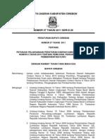 Peraturan Bupati Cirebon Nomor 27 Tahun 2011 (Juknis Perda 6_2010 - Pilwu)
