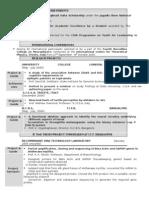 CV for Master Biodata