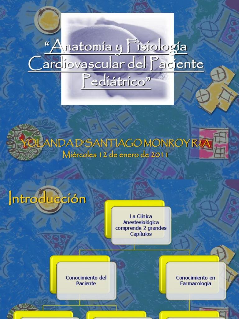 Anatomía y Fisiología CV en el Paciente Pediátrico - copia