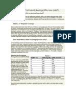 HbA1c and Estimated Average Glucose