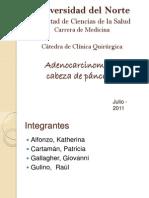Adenocarcinoma de páncreas cefálico
