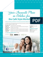 Cafe Style Workshops at St Ives Shopping Village