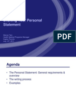 Personal Statement Workshop May 12th