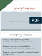 Concepto de Lenguaje CLASE 1