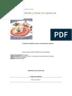 La Cocina de La Hna Bernarda Compota de Ruibarbo y Fresas Con Espuma de Requesón