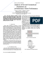 Sensitivity Analysis of Several Geometrical Parameters on Linear Switched Reluctance Motor Performance