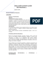 INVESTIGACIÓN E INNOVACIÓN TECNOLÓGICA 1