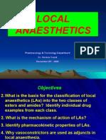 Local Anaesthetics Slides Dec25th 2006