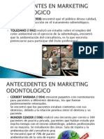 Antecedentes en Marketing Odontologico