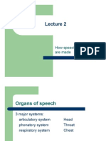 How Speech Sounds Are Made