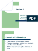 Overview of Phonetic Anf Fonology