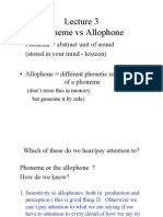 Phonemes and All Op Hones