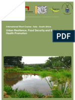 Urban Resilience, Food Security and Ecological Health Promotion