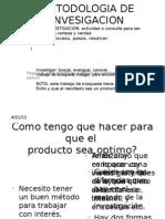 METODOLOGIA DE INVESIGACION