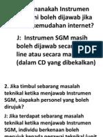SGM~FAQ