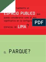ESPACIO PUBLICO LIMA