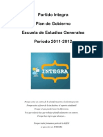Plan De Gobierno Integra 2011