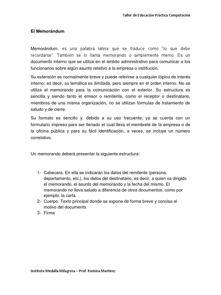 ejemplo de memo Hermosa Plantilla De Memorándum Interno Festooning - Ejemplo De ...
