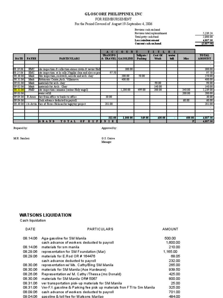 petty cash liquidation 2