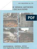 Review of Design Methods for Excavations