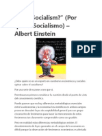 Why Socialism Einstein