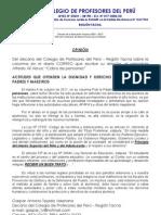 OPINIÓN del  Decano del CPPe Tacna