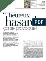 Article sur les Hasards Nécessaires dans Marie-France