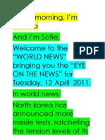 News Casting Script