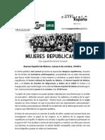Boletín - Mujeres republicanas