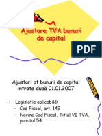 Ajustare TVA Bunuri de Capital