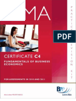 Cima Certificate Paper c4 Fundamentals of Business Economics Practice Revision