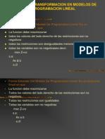 Reglas de Trans for Mac Ion en Modelos de Programacion Lineal