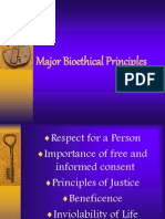Major Bio Ethical Principles