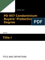 PD 957 Condominium Buyers' Protective Degree