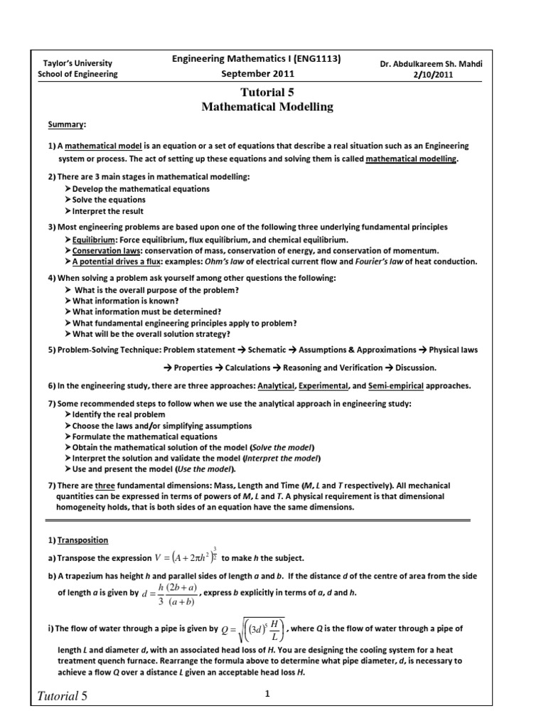 Famous Engineering Math Problems Examples Ideas - Math Worksheets ...