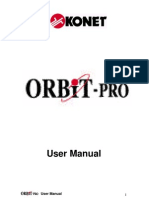 Orbit Pro Control Panel User