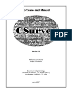 Csurvey2 Manual