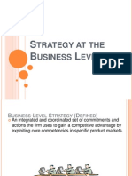 Business Level Strategy Final