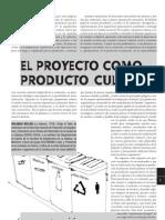 Proyecto Como Producto Cultural