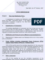 New Coal Distribution Policy