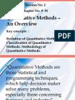 QM an Overview