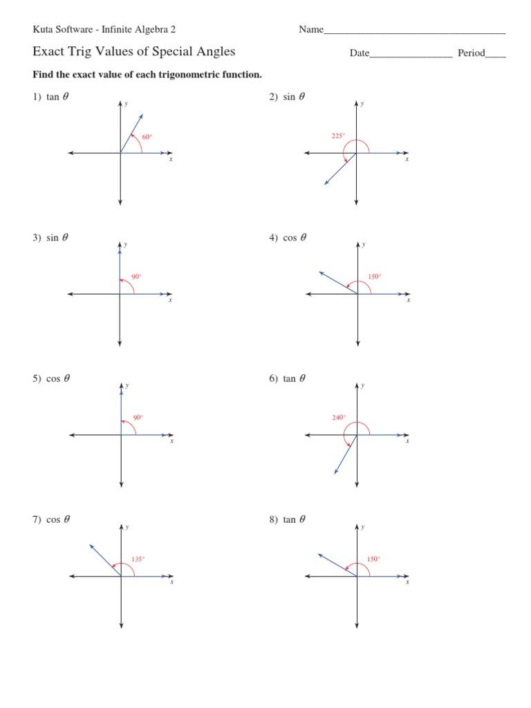kuta software trigonometry review